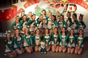 Die Cheerleader bei der Meisterschaft in Bonn