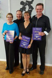 Unsere BSW Paare in Neuss vlnr: Brigitte und Gerd Schmidt, Andrea Alef und Oliver Suttorp